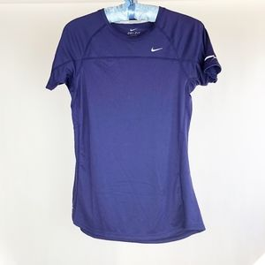 NIKE Women's Miler Top Sz M Medium Running Purple